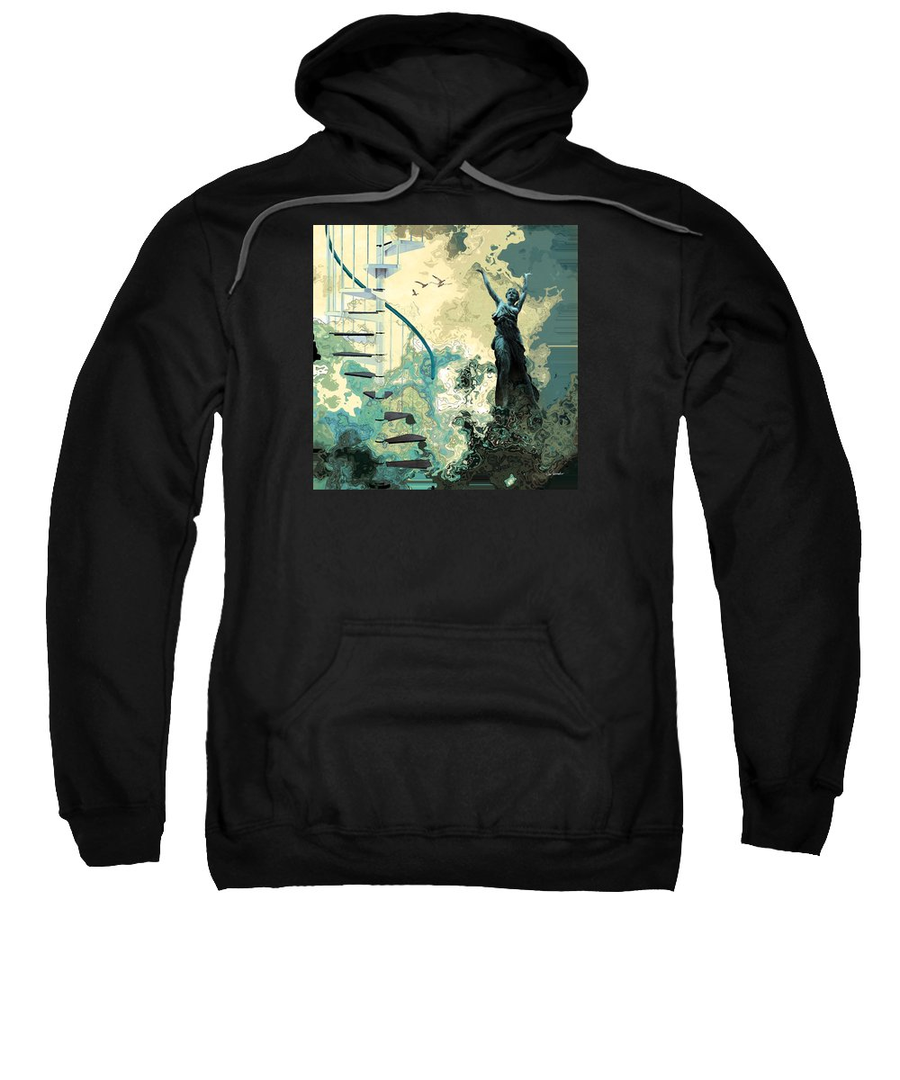 Victory Sweatshirt featuring the painting Arpeggiana by Van Renselar