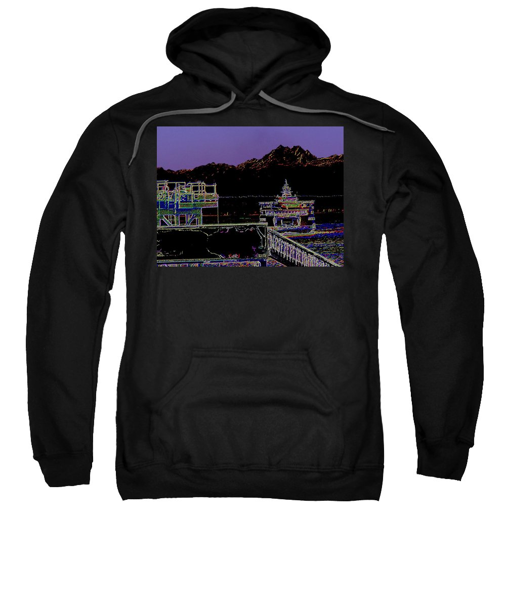 Seattle Sweatshirt featuring the photograph Arrival by Tim Allen