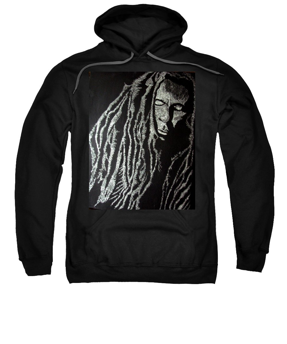 Portrait Sweatshirt featuring the painting Art Of Freedom by Glory Fraulein Wolfe