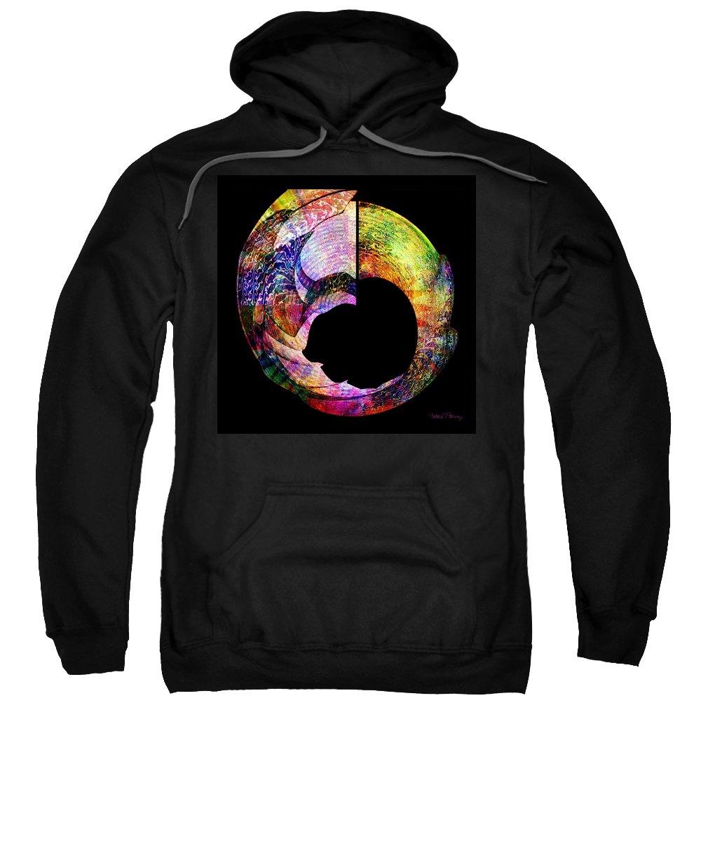 Colorful Sweatshirt featuring the digital art Artifact by Barbara Berney