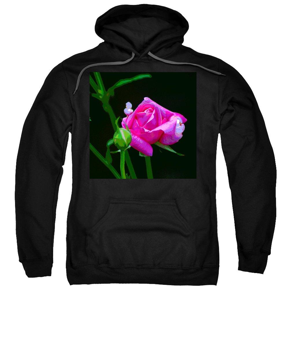 Flowers Sweatshirt featuring the photograph Artrose by Ben Upham III
