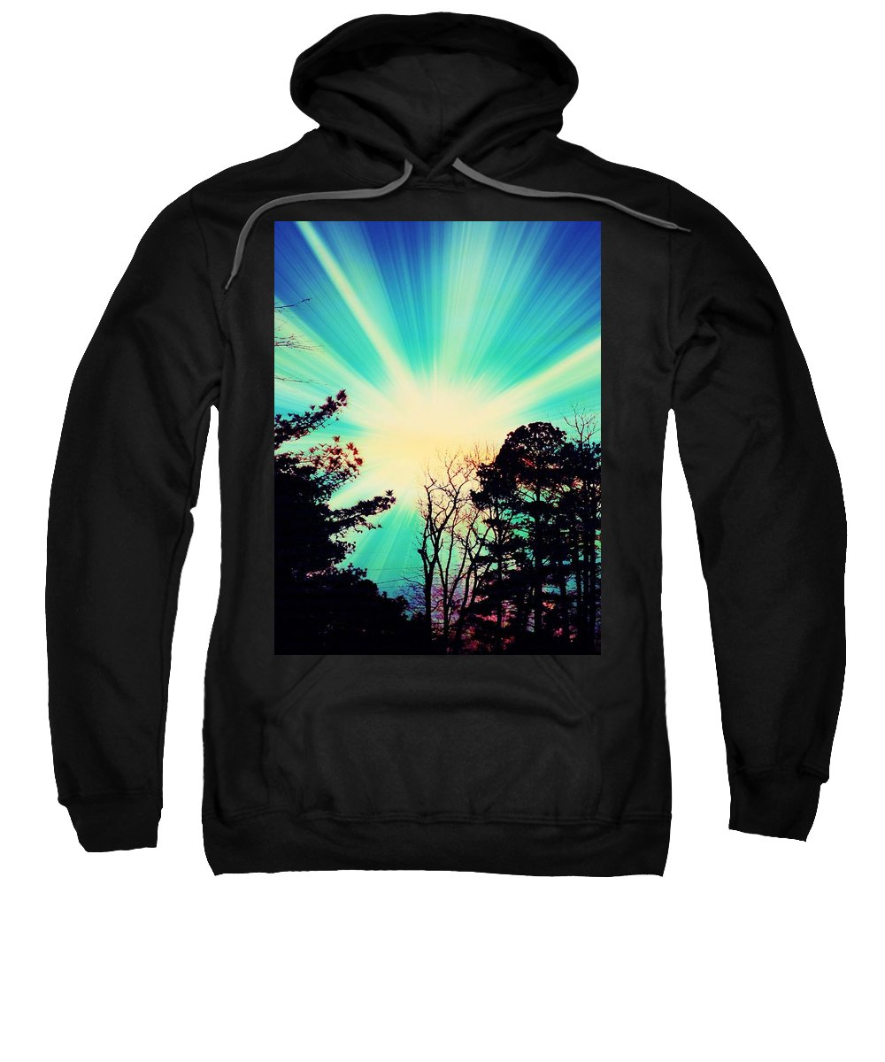 Sunrise Sweatshirt featuring the photograph Morning Glow by Johari Smith