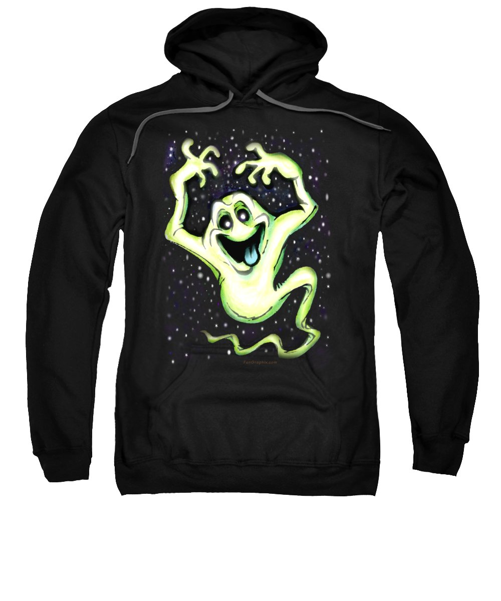 Halloween Sweatshirt featuring the painting Ghost by Kevin Middleton