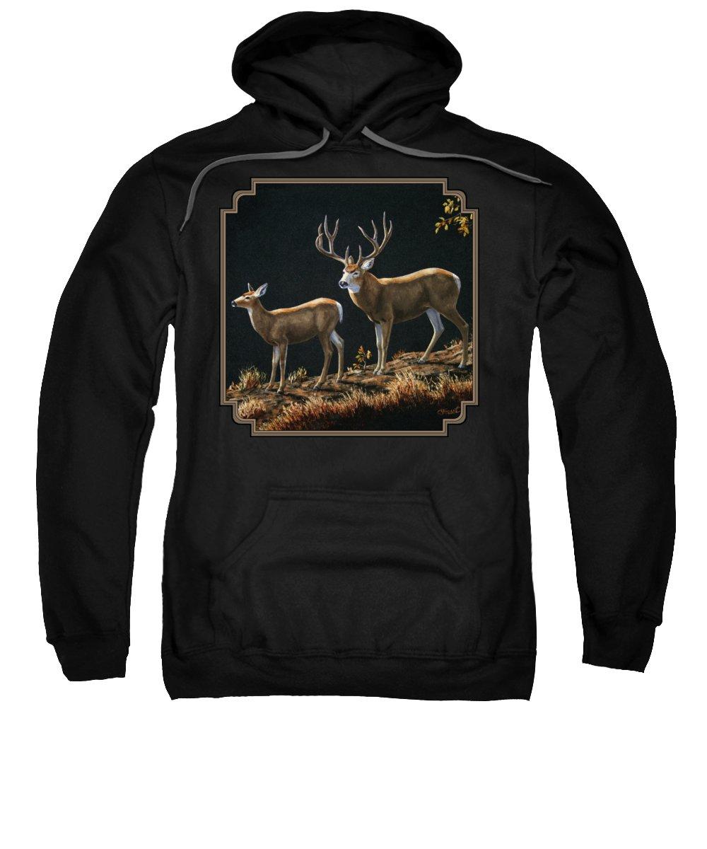 Mule Deer Hooded Sweatshirts T-Shirts