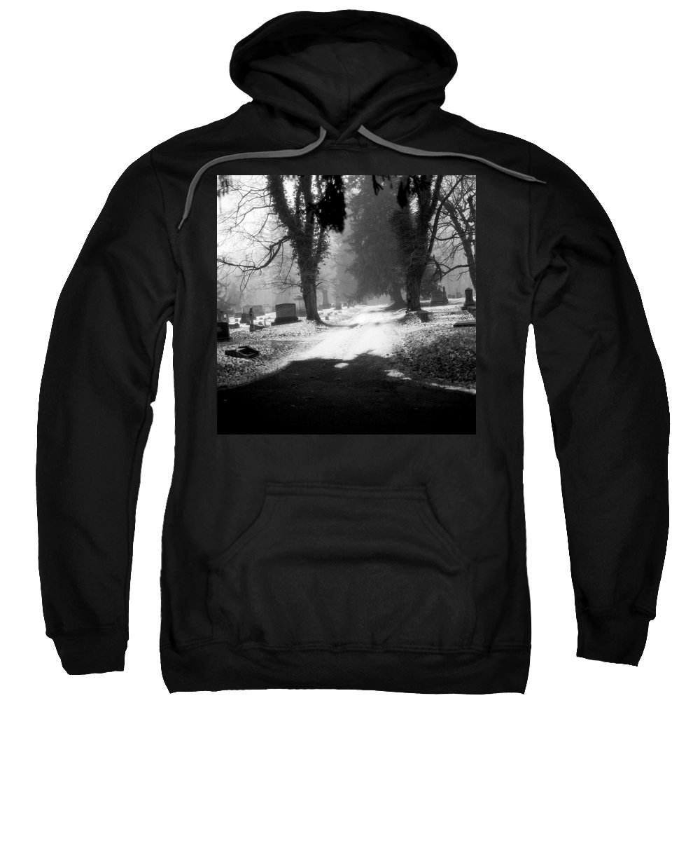 Photograph Sweatshirt featuring the photograph Ashland Cemetery by Jean Macaluso