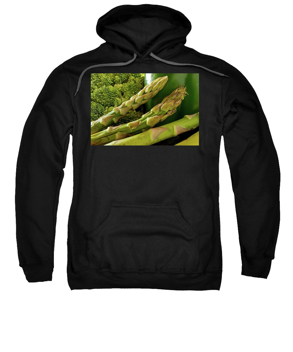 Vegetable Sweatshirt featuring the photograph Asparagus by Ira Marcus