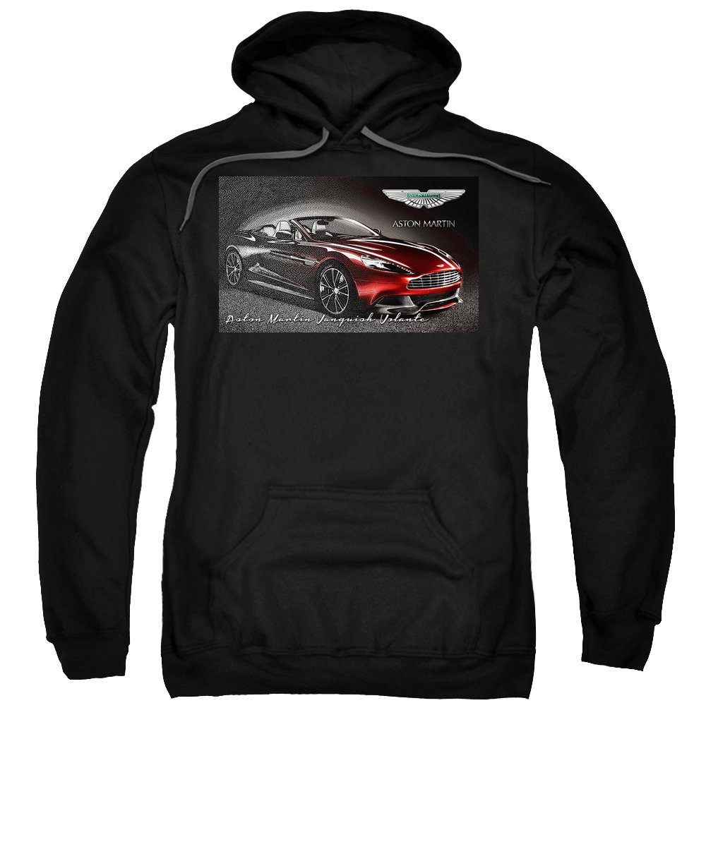 �wheels Of Fortune� Collection By Serge Averbukh Sweatshirt featuring the photograph Aston Martin Vanquish Volante by Serge Averbukh