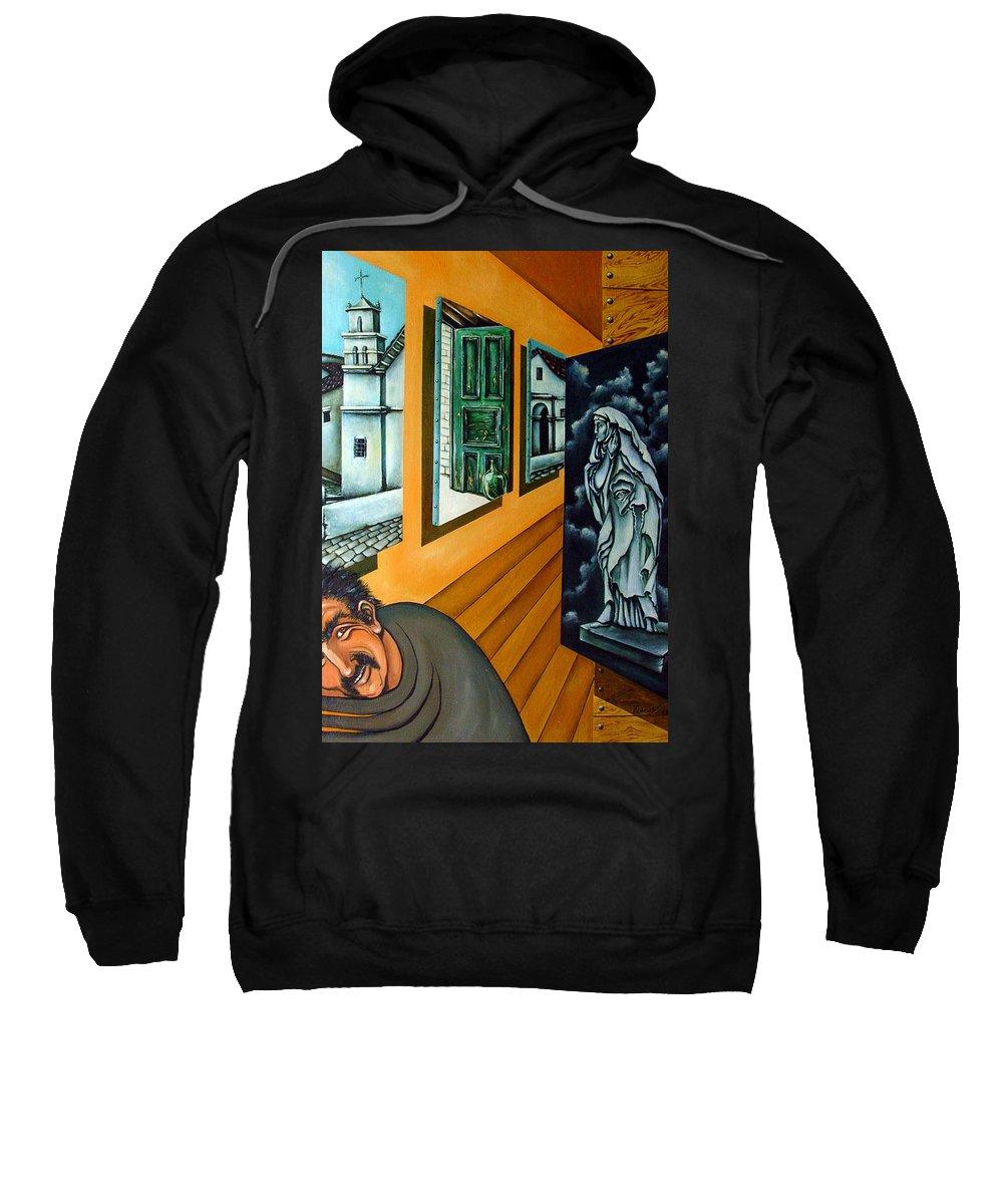 Surreal Sweatshirt featuring the painting Asylum by Valerie Vescovi