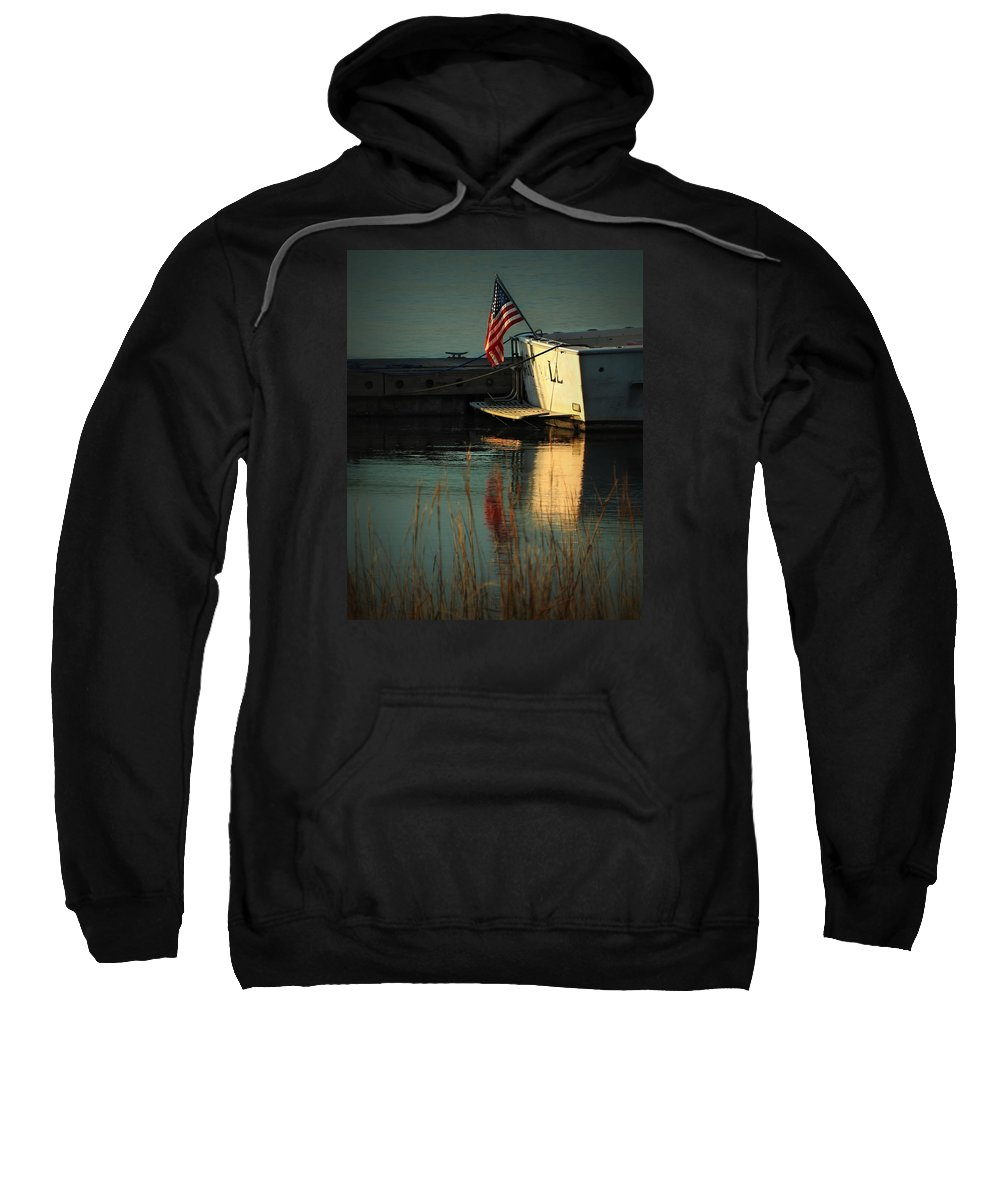 Patriotic Sweatshirt featuring the photograph At Peace by Laura Ragland