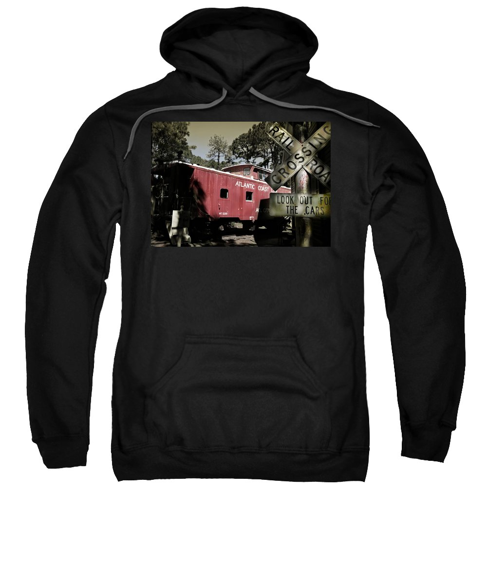 Atlantic Sweatshirt featuring the photograph Atlantic Coast Line Railroad Carriage by Mal Bray