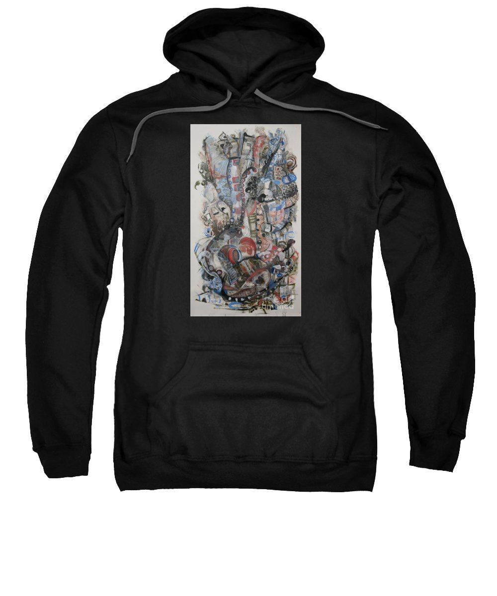 Presence Sweatshirt featuring the painting Atman by Jean Moon