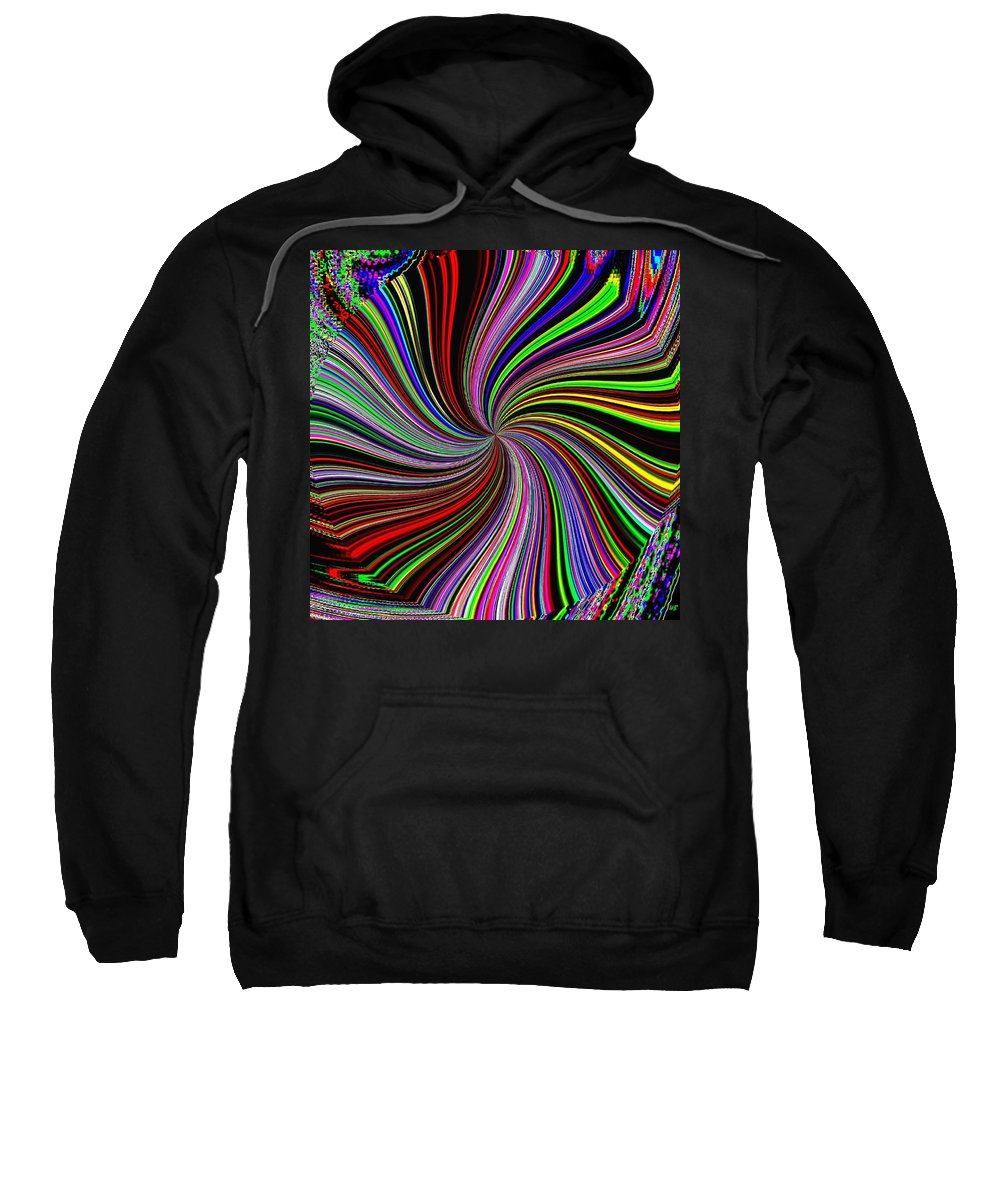 Abstract Sweatshirt featuring the digital art Attitude by Will Borden