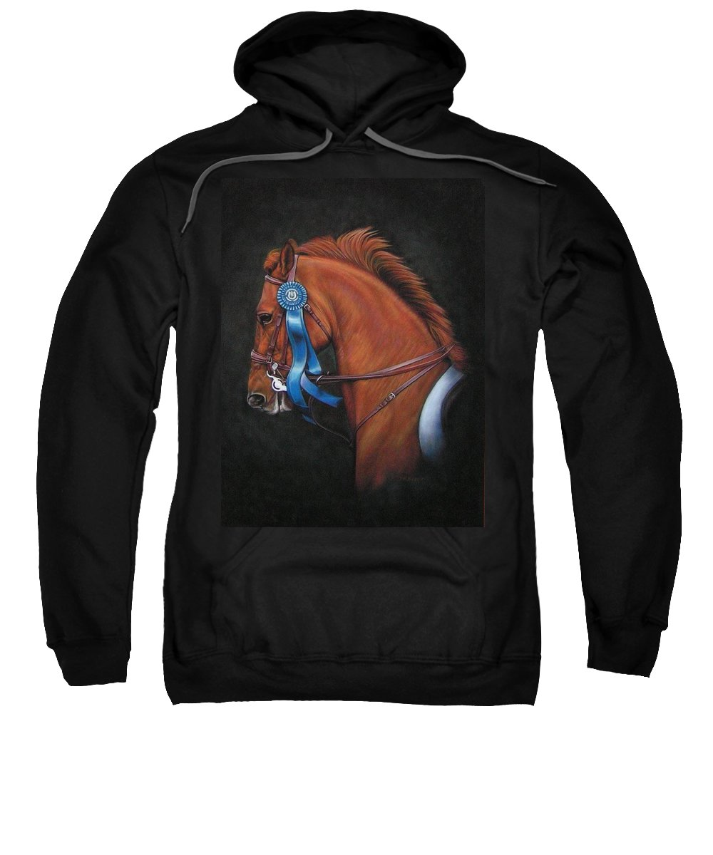 Horse Sweatshirt featuring the painting Attitude by Yvonne Hazelton