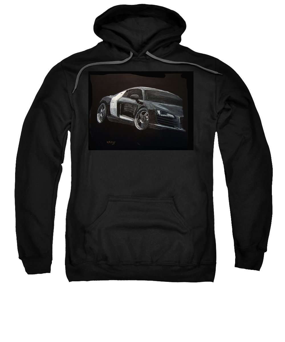 Audi Sweatshirt featuring the painting Audi Le Mans by Richard Le Page