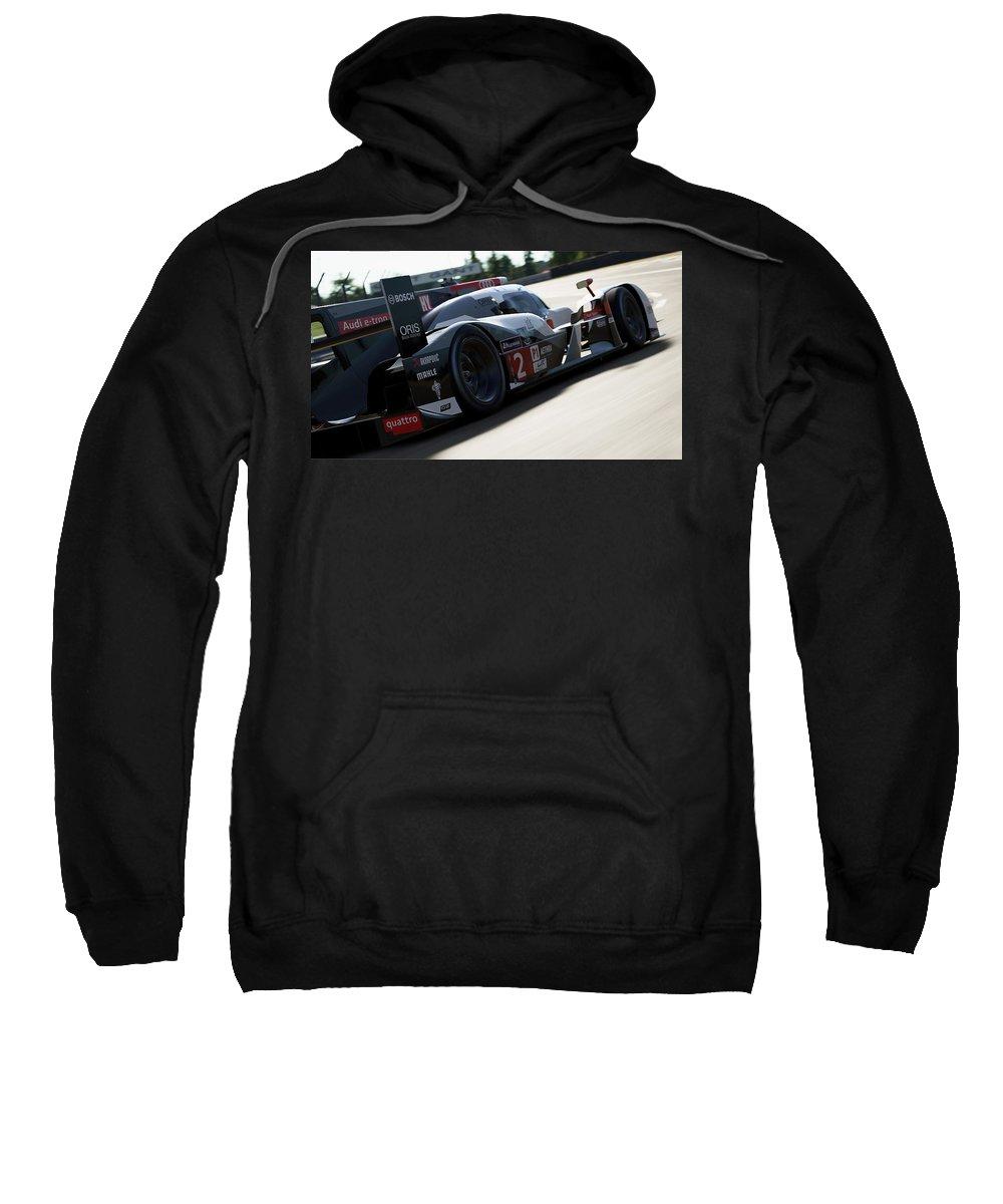 Audi Sweatshirt featuring the photograph Audi R18 E-tron, Le Mans - 09 by Andrea Mazzocchetti