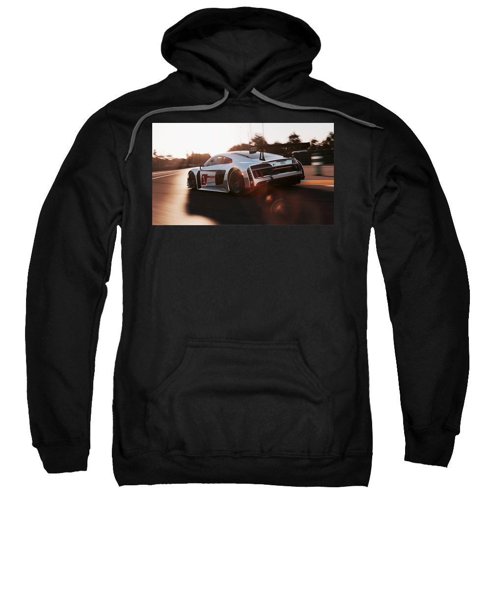 Audi Sweatshirt featuring the photograph Audi R8 Lms - 08 by Andrea Mazzocchetti