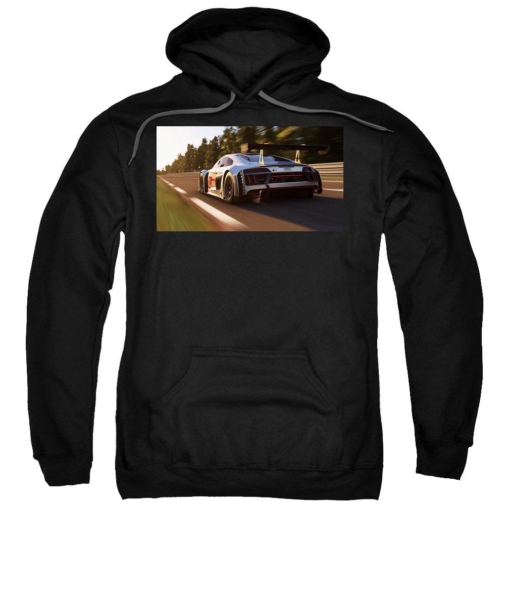 Audi Sweatshirt featuring the photograph Audi R8 Lms - 14 by Andrea Mazzocchetti
