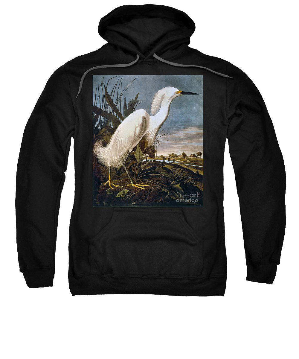 1838 Sweatshirt featuring the photograph Audubon: Egret by Granger