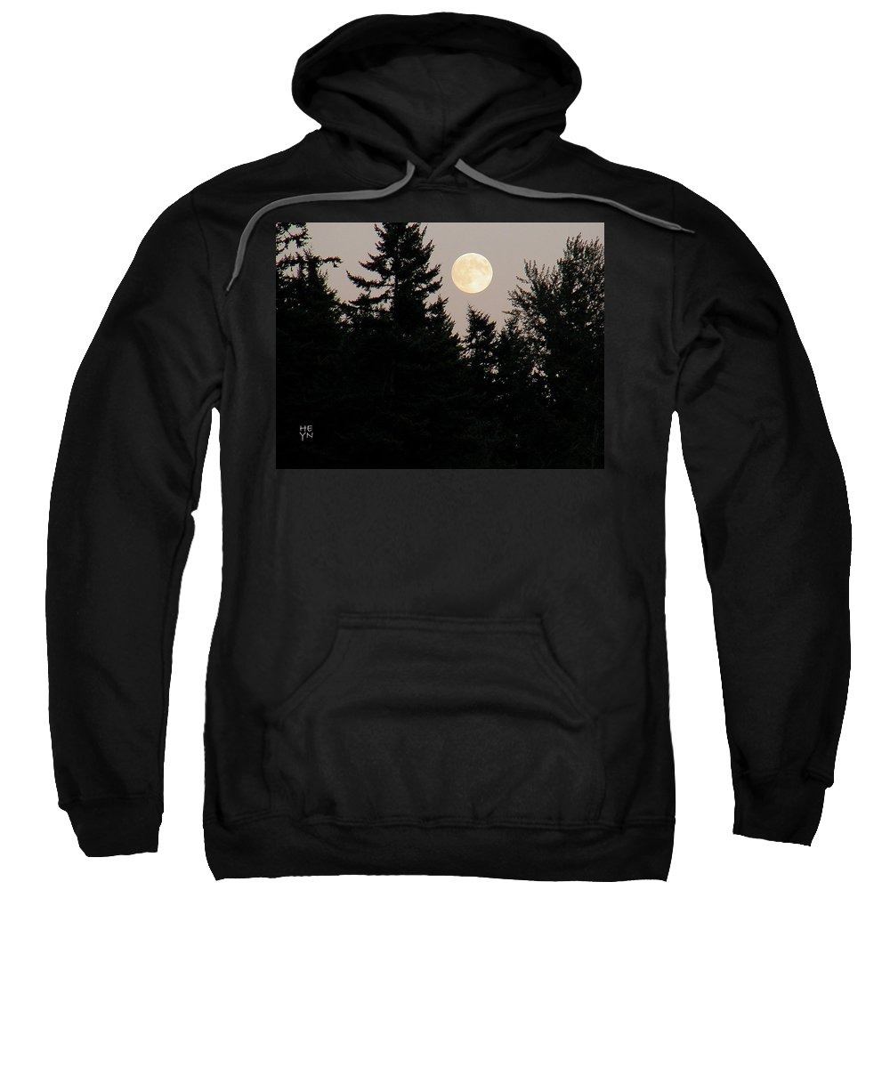 August Sweatshirt featuring the photograph August Full Moon - 1 by Shirley Heyn
