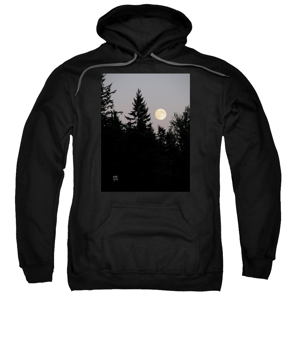 August Sweatshirt featuring the photograph August Full Moon - 2 by Shirley Heyn