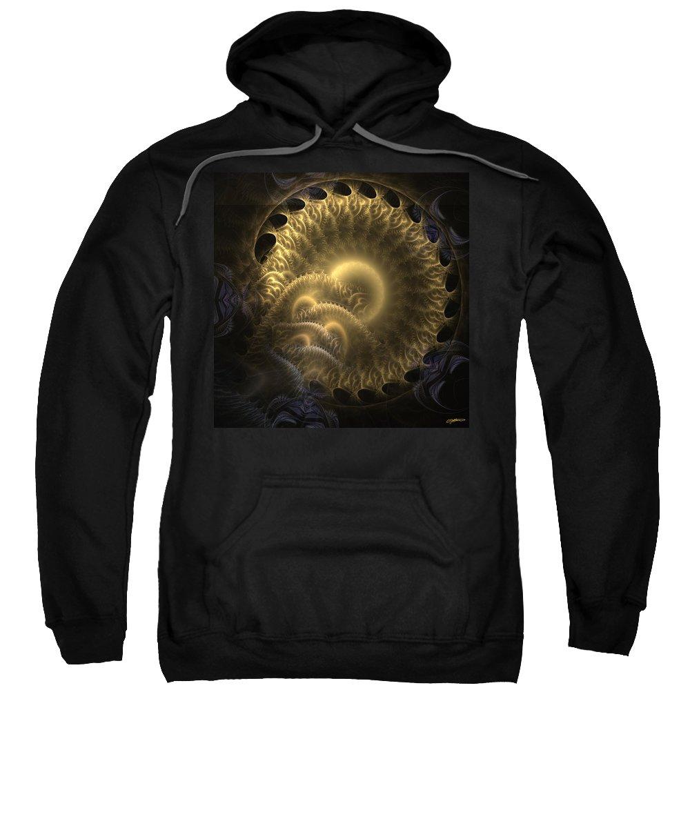 Abstract Sweatshirt featuring the digital art Aureate-2 by Casey Kotas