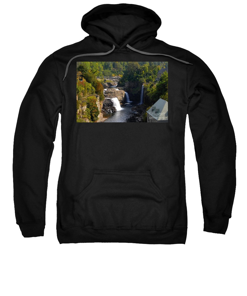 Ausable River Sweatshirt featuring the photograph Ausable Falls by David Lee Thompson