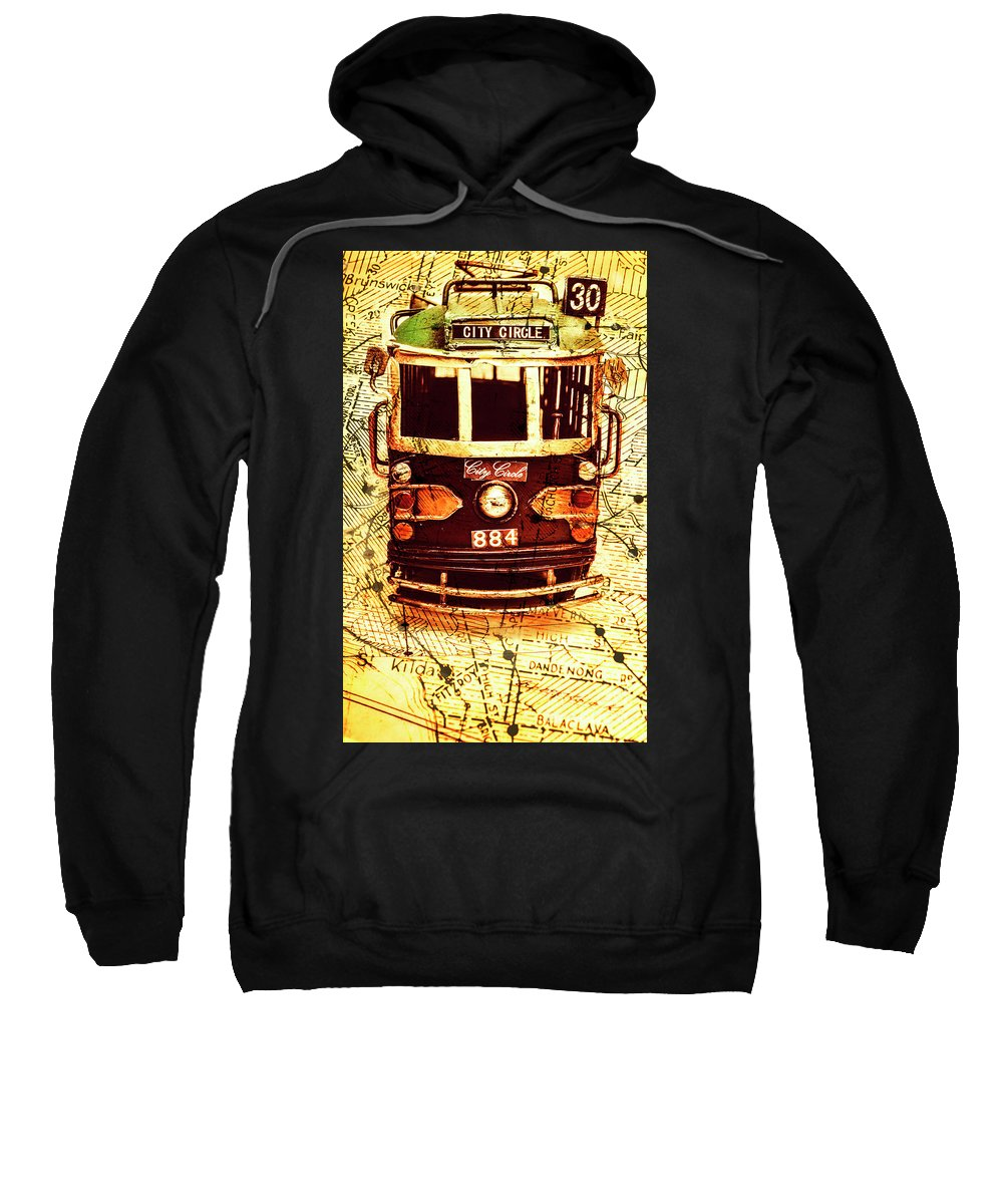 Australia Sweatshirt featuring the photograph Australia Travel Tram Map by Jorgo Photography - Wall Art Gallery