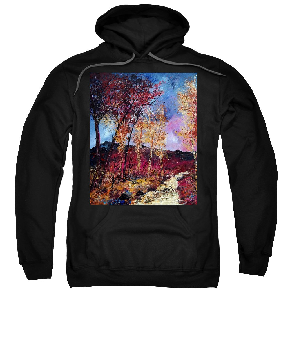 Landscape Sweatshirt featuring the painting Autumn 760808 by Pol Ledent
