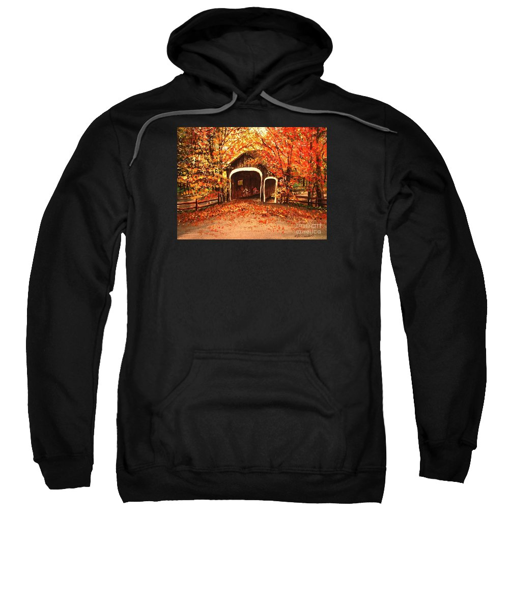 Autumn Sweatshirt featuring the painting Autumn Bike Ride by Patricia L Davidson