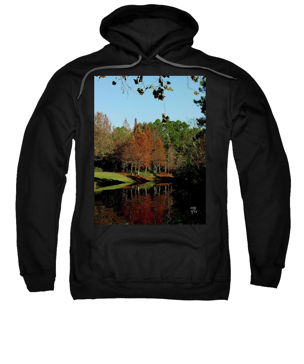 Autumn Sweatshirt featuring the photograph Autumn Color Reflected by Shirley Heyn