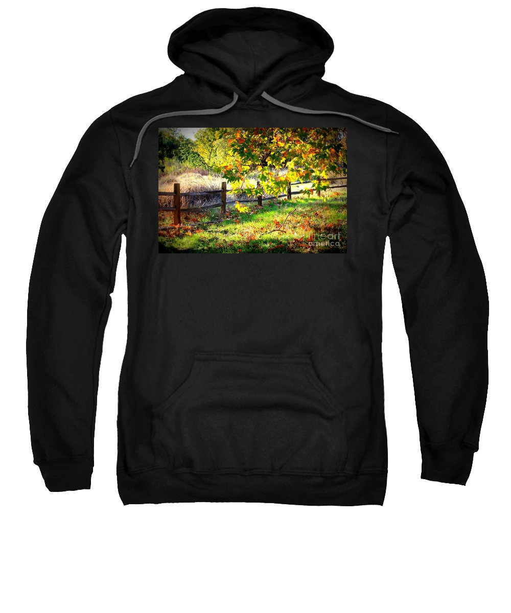 Fences Sweatshirt featuring the photograph Autumn Fence by Carol Groenen