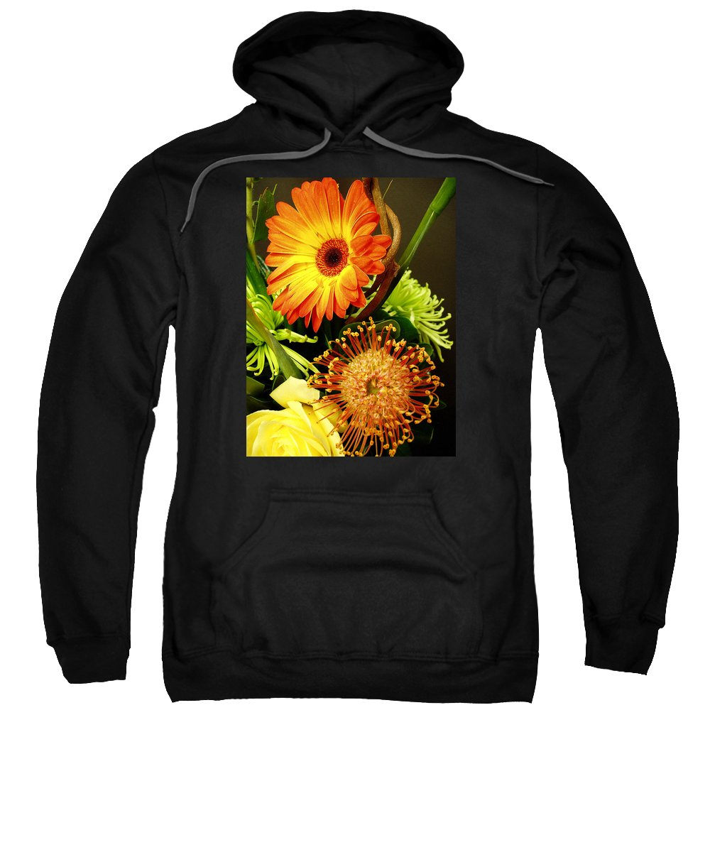 Autumn Sweatshirt featuring the photograph Autumn Flower Arrangement by Nancy Mueller