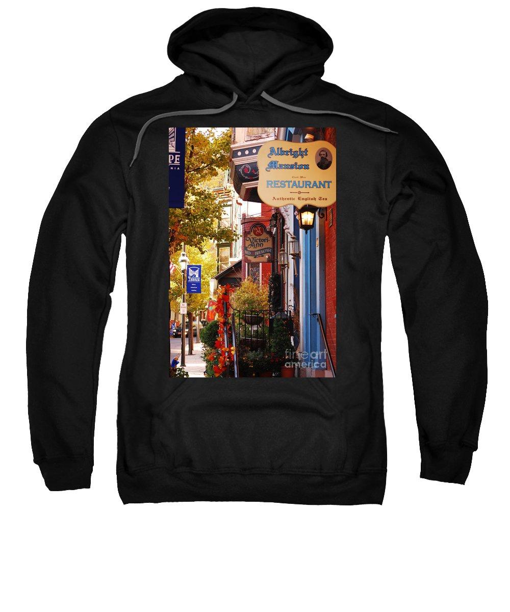 Landscape Sweatshirt featuring the photograph Autumn In Jim Thorpe by Lori Tambakis