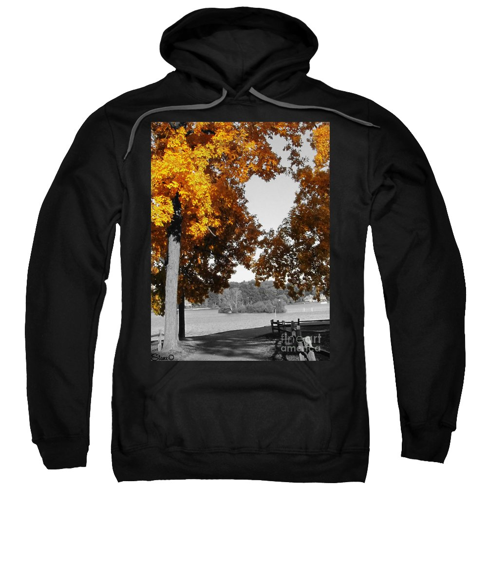 Landscape Sweatshirt featuring the photograph Autumn Love by September Stone