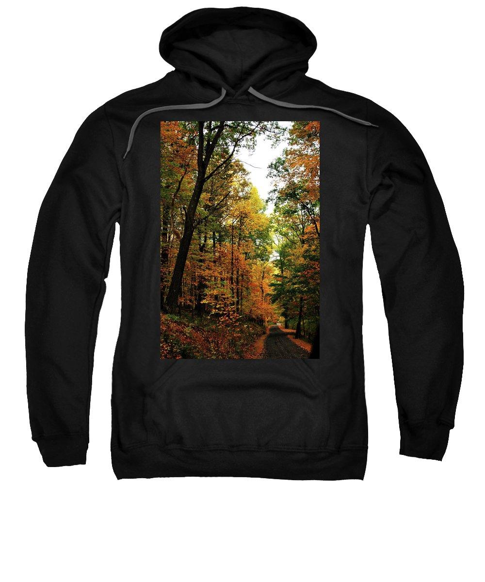 Autumn Sweatshirt featuring the photograph Autumn Path by Lori Tambakis