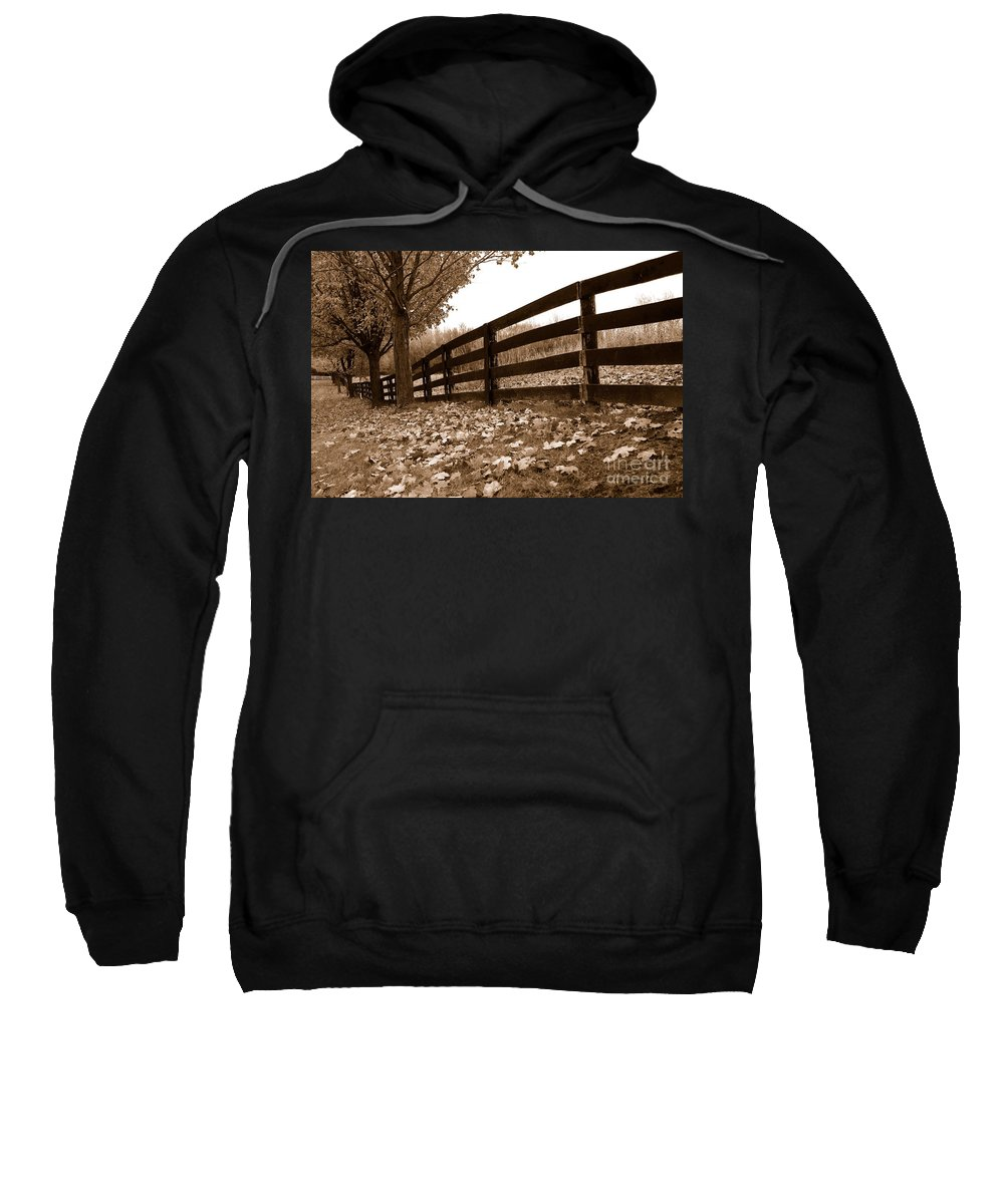 Autumn Sweatshirt featuring the photograph Autumn Perspective by Joe Ng