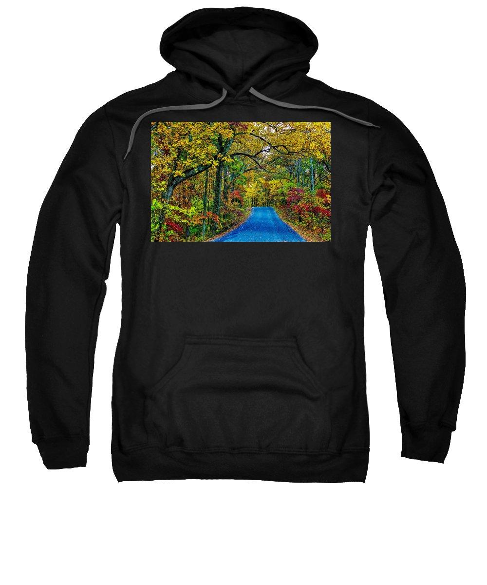Autumn Sweatshirt featuring the photograph Autumn Trail by Robert Cox