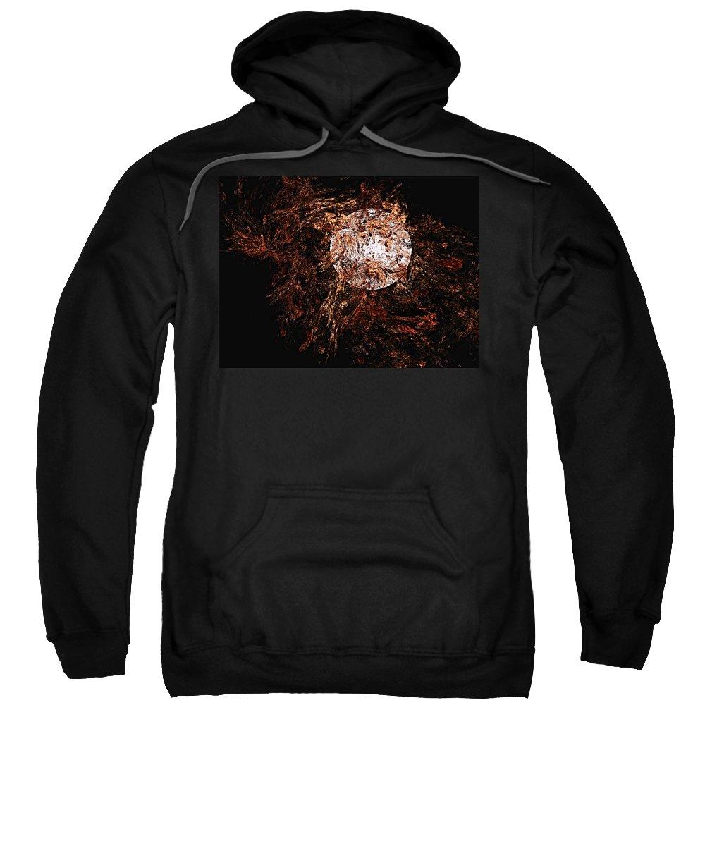 Digital Painting Sweatshirt featuring the digital art Autumn Wind 1 by David Lane