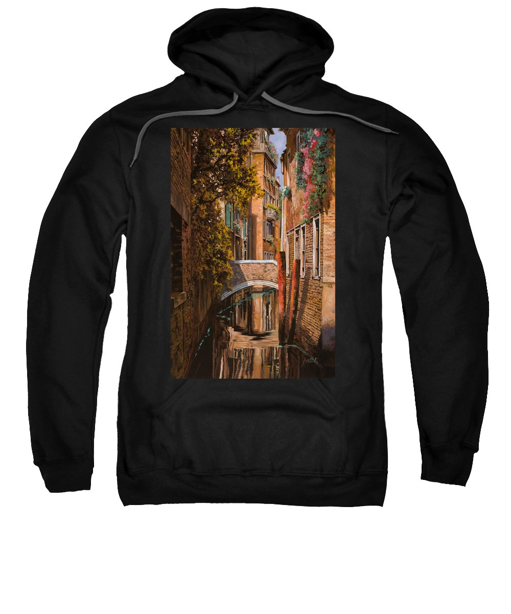 Venice Sweatshirt featuring the painting autunno a Venezia by Guido Borelli