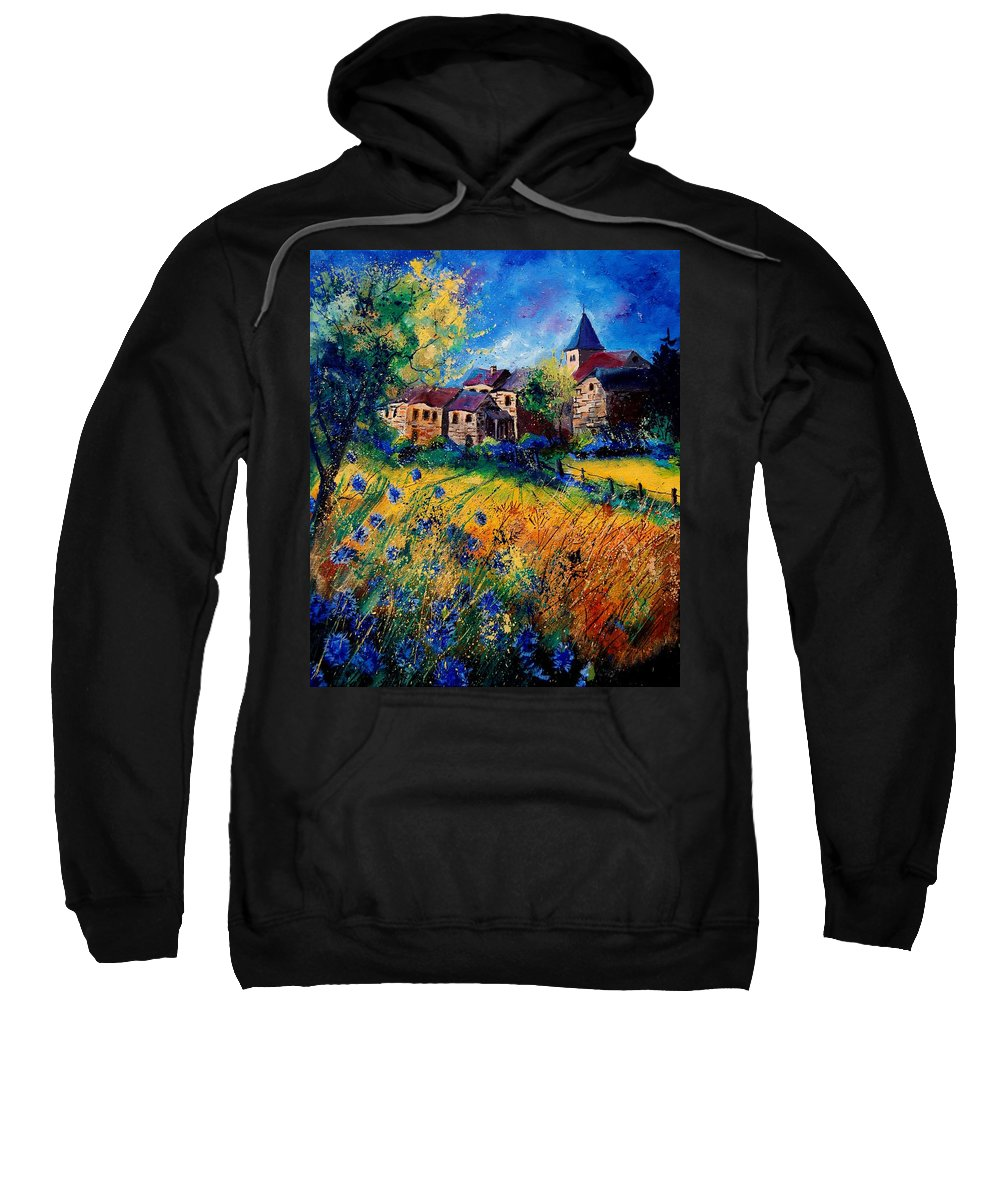 Tree Sweatshirt featuring the painting Awagne 67 by Pol Ledent