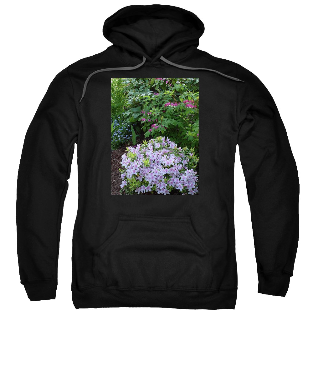 Nature Sweatshirt featuring the photograph Azalea And Bleeding Hearts by Shirley Heyn