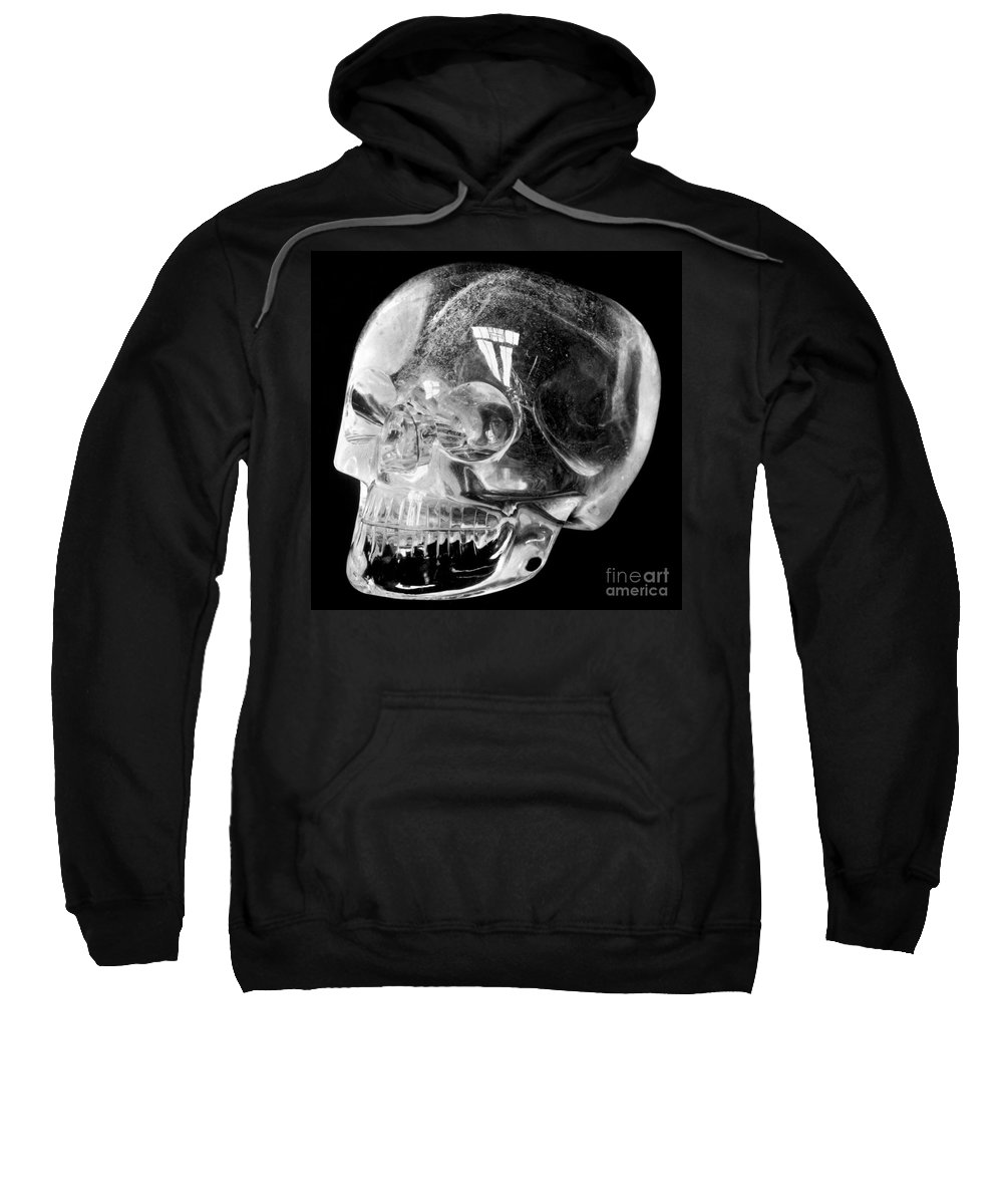 15th Century Sweatshirt featuring the photograph Aztec Rock Crystal Skull by Granger