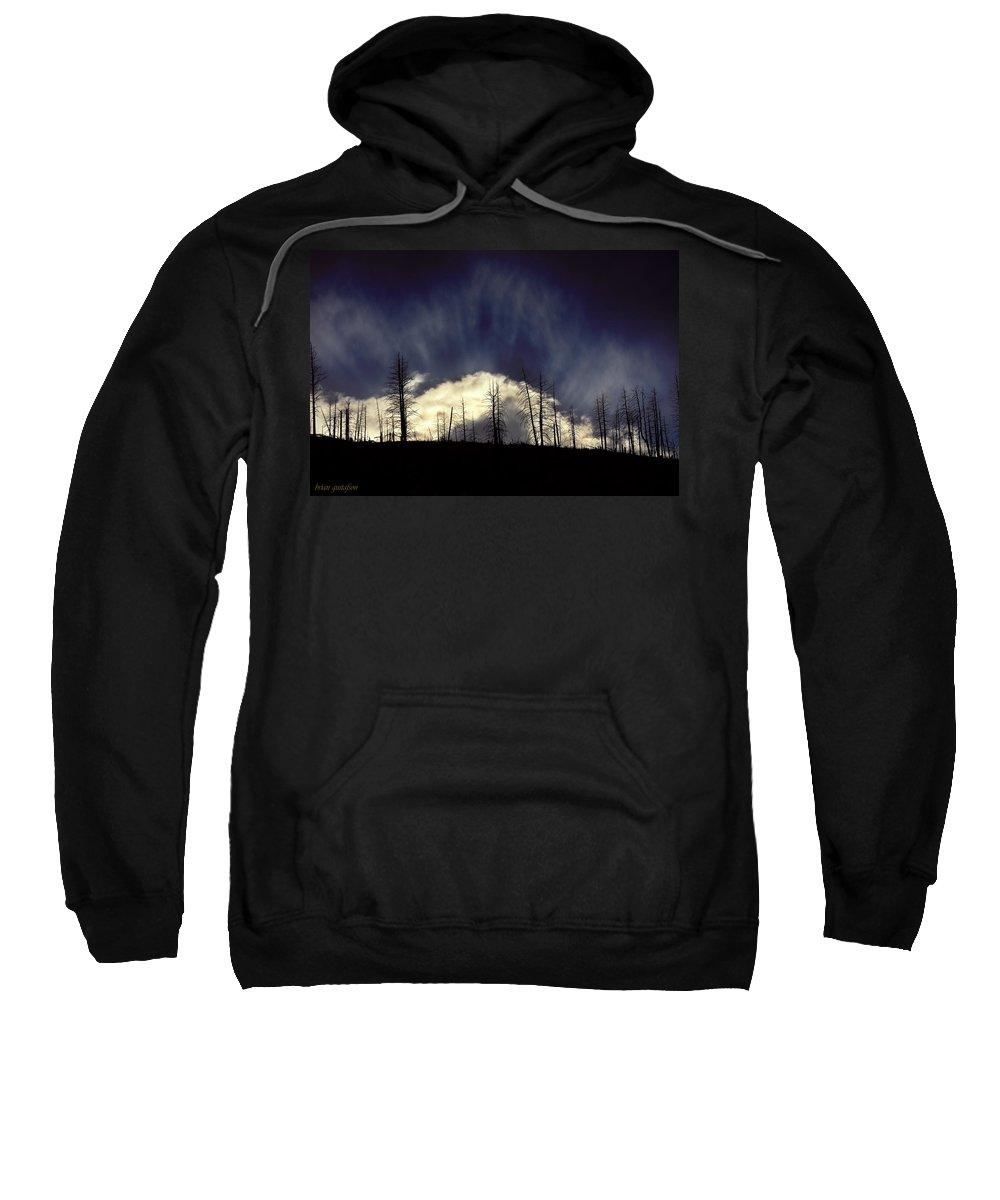 Landscape Sweatshirt featuring the photograph Sun Fire by Brian Gustafson