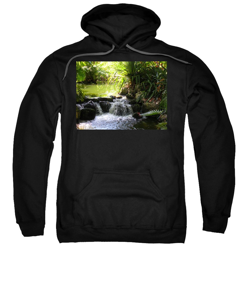 Water Sweatshirt featuring the photograph Babbling Brook by Maria Bonnier-Perez