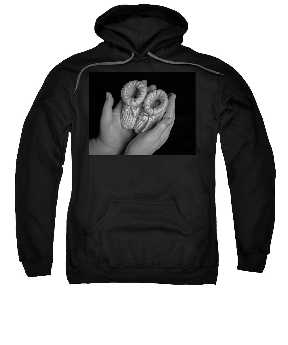 Baby Sweatshirt featuring the photograph Baby Shoes by Keith Elliott
