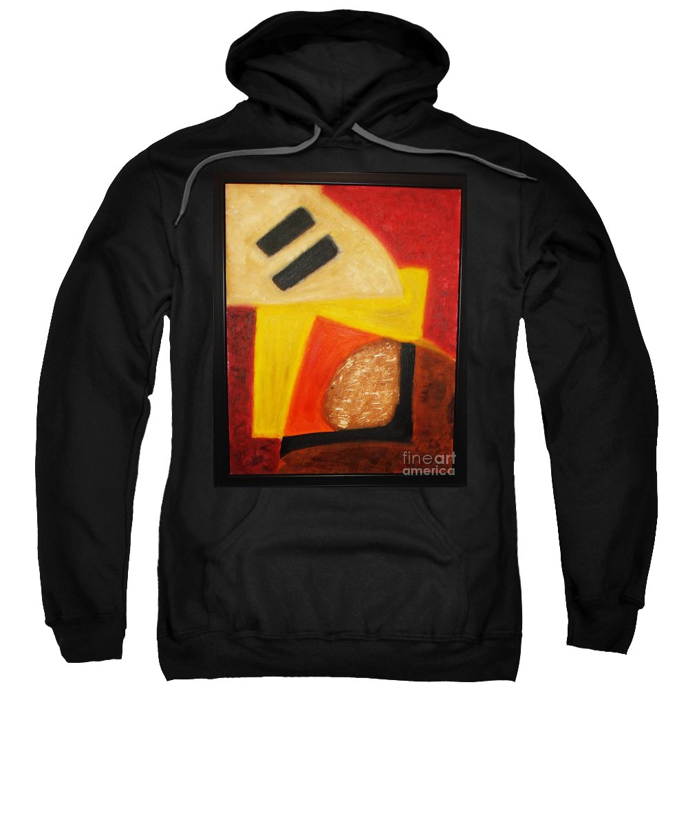 Oil Painting Sweatshirt featuring the painting Balance by Yael VanGruber