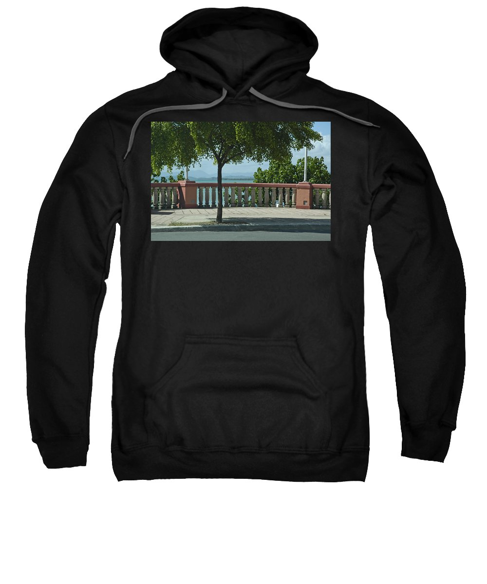 Landscape Sweatshirt featuring the photograph Balcony On The Beach In Naguabo Puerto Rico by Tito Santiago