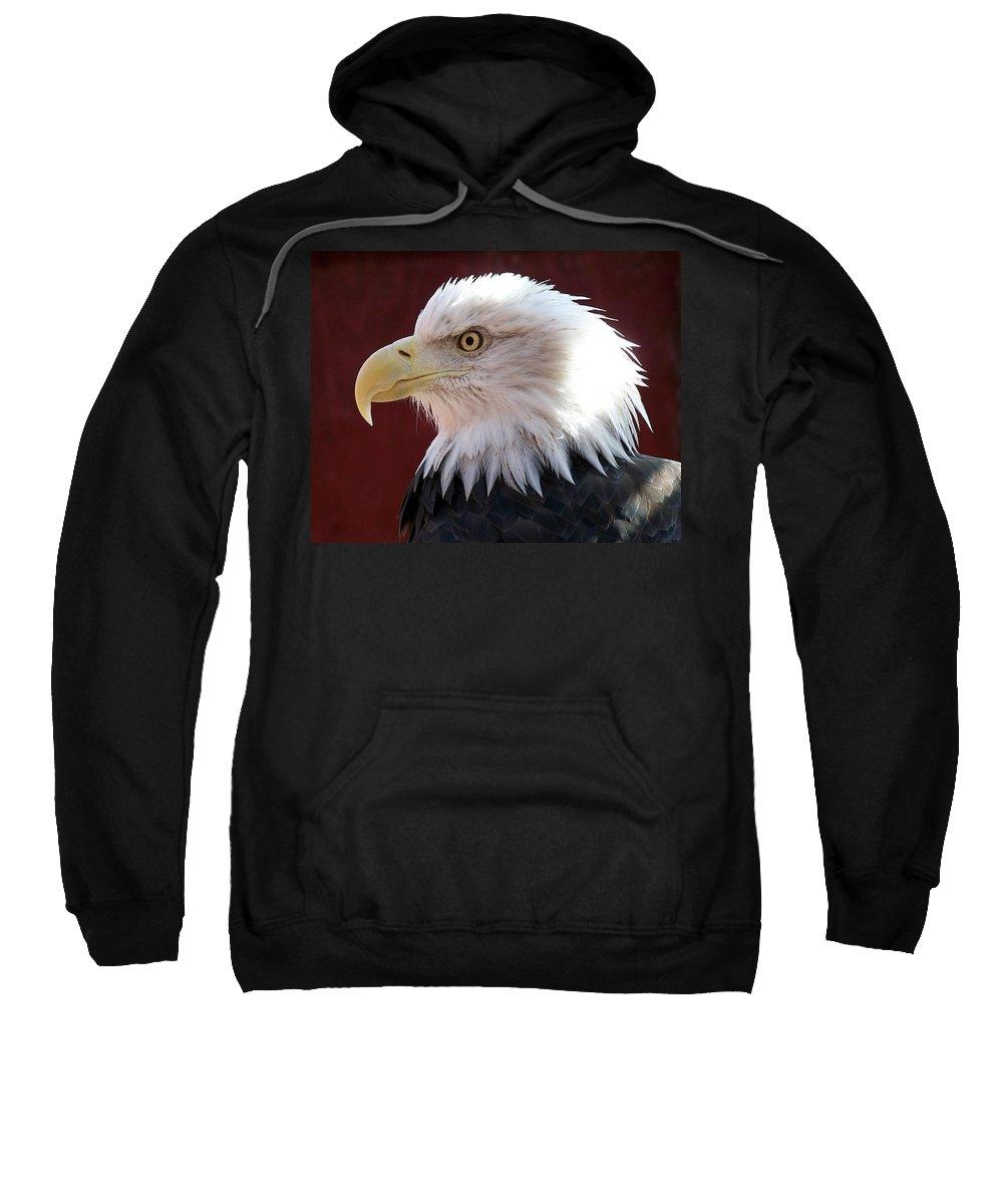 Animal Sweatshirt featuring the photograph Bald Eagle by Ernie Echols