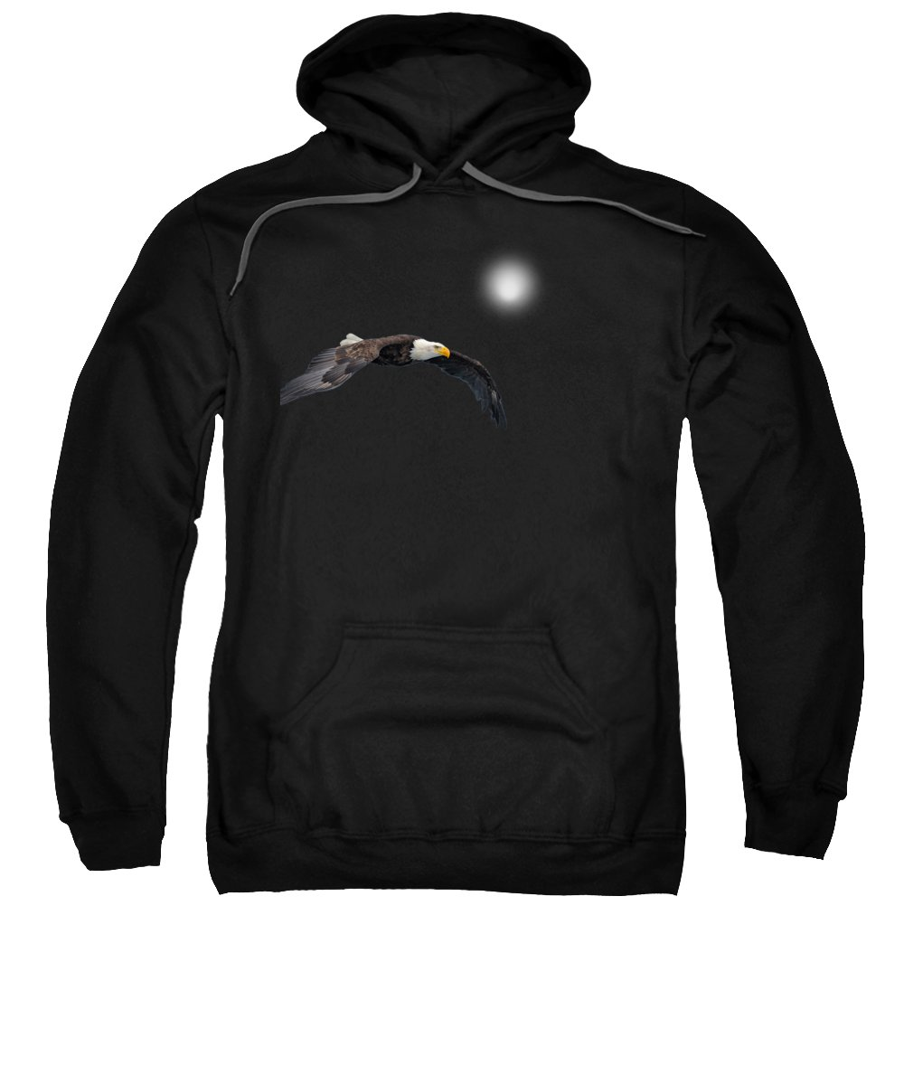 Eagle Sweatshirt featuring the photograph Bald Eagle Textured Art by David Dehner