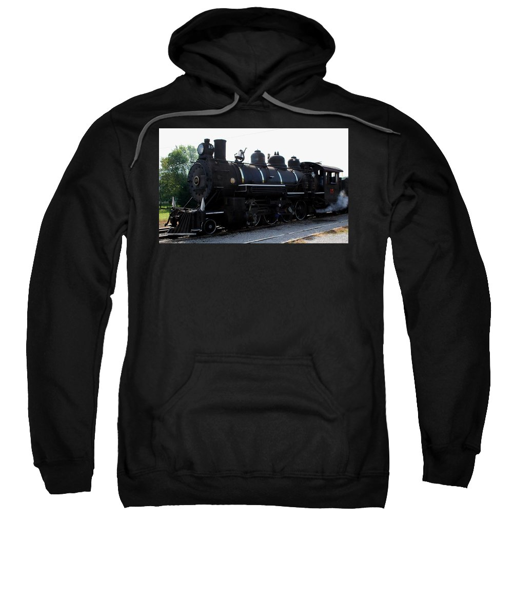 Railroad Sweatshirt featuring the photograph Baldwin Locomotive by Rebecca Smith